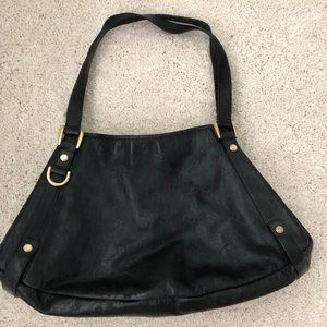 Authentic Black Leather Gucci Handbag